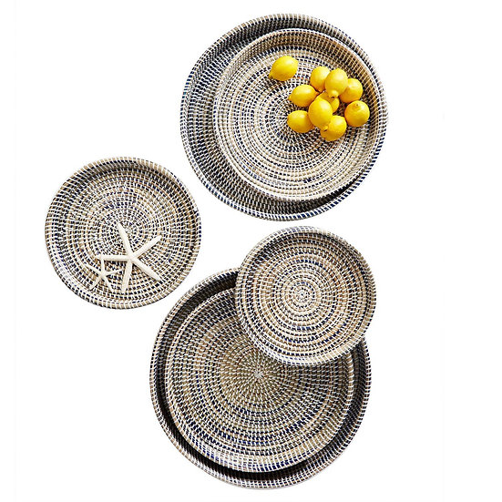 Round seagrass trays available in six sizes