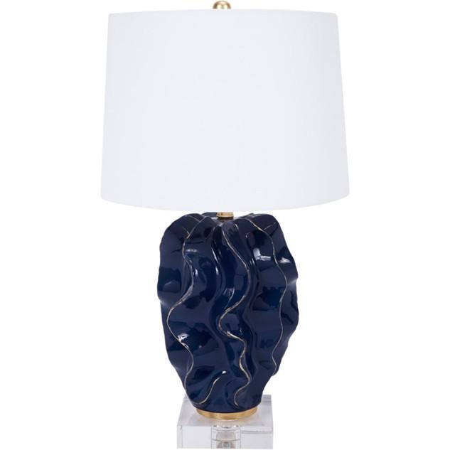 Hanna Navy Blue Wave Table Lamp