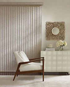 Hunter Douglas Somner custom vertical blinds in living space
