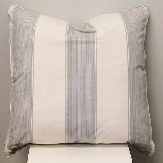 Wide Blue Stripe Pillow Cover