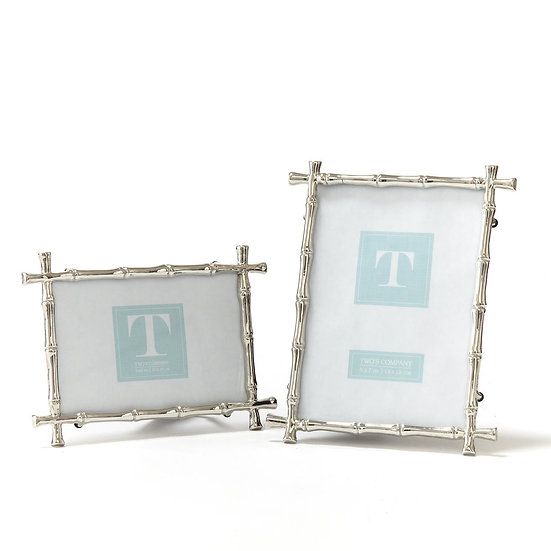 Silver bamboo fretwork picture frames