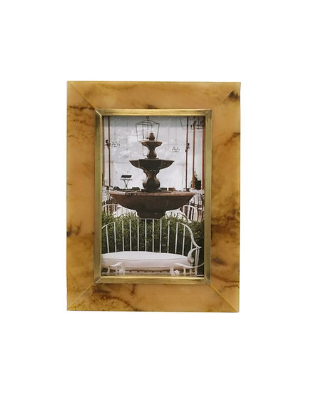 Horn and Brass Picture Frame
