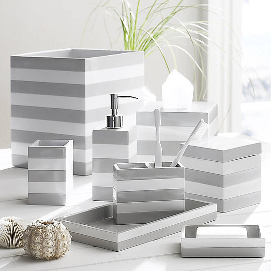 Aubergine Home Collection bathroom decor store Cabana nautical bathroom accessories by Kassatex