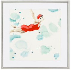 Poolside Red Swimmer