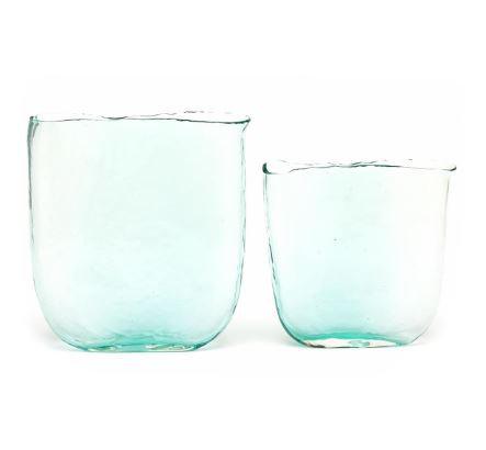 Aqua Ellipse Vase
