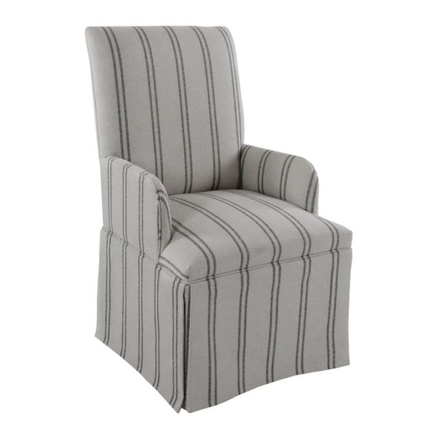 Skirted Parsons Dining Armchair Chair