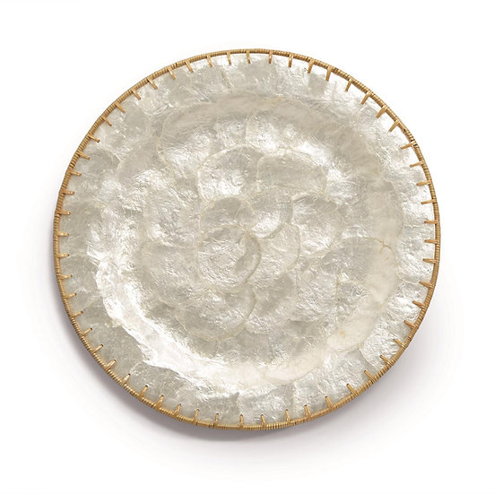 Capiz Shell Round Charger