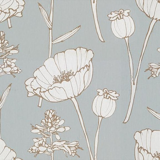 Poppyfield Floral - Seamist