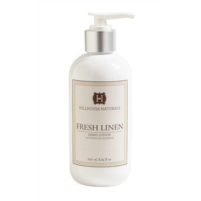 Fresh linen scented hand lotion in an 8.25 oz bottle
