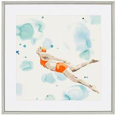 Poolside Orange Swimmer