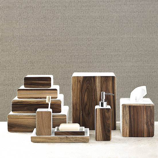 Habitat wooden bathroom accessories set