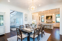 Coastal style dining room pieces in modern Arts and Crafts home on Kiawah Island South Carolina