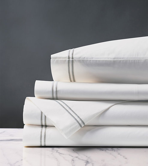 Enzo Cotton Percale Sheet Set w/ Embroidery