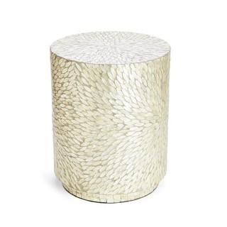 Grey Leaves Capiz Shell Side Table