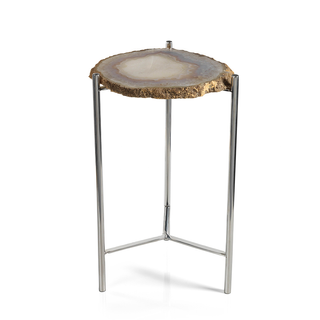 Savona Natural Agate Accent Table