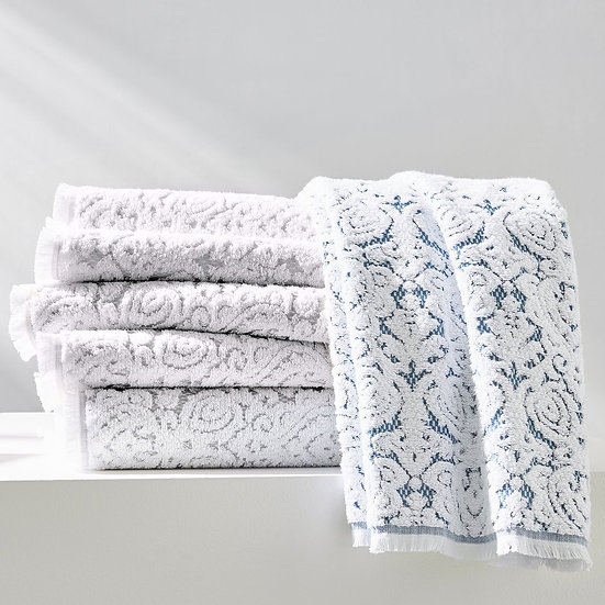 Dalia two-tone textured bath towel collection