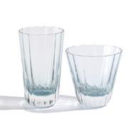 Aqua Fluted Beverage Glasses