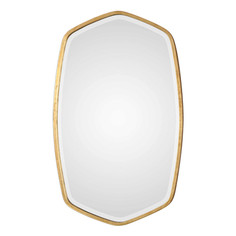 Duronia Geometric Gold Wall Mirror