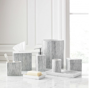 Aubergine Home Collection bathroom decor store Wainscott ceramic bathroom accessories by Kassatex