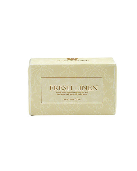 Fresh Linen body fragrance as a French-milled Soap