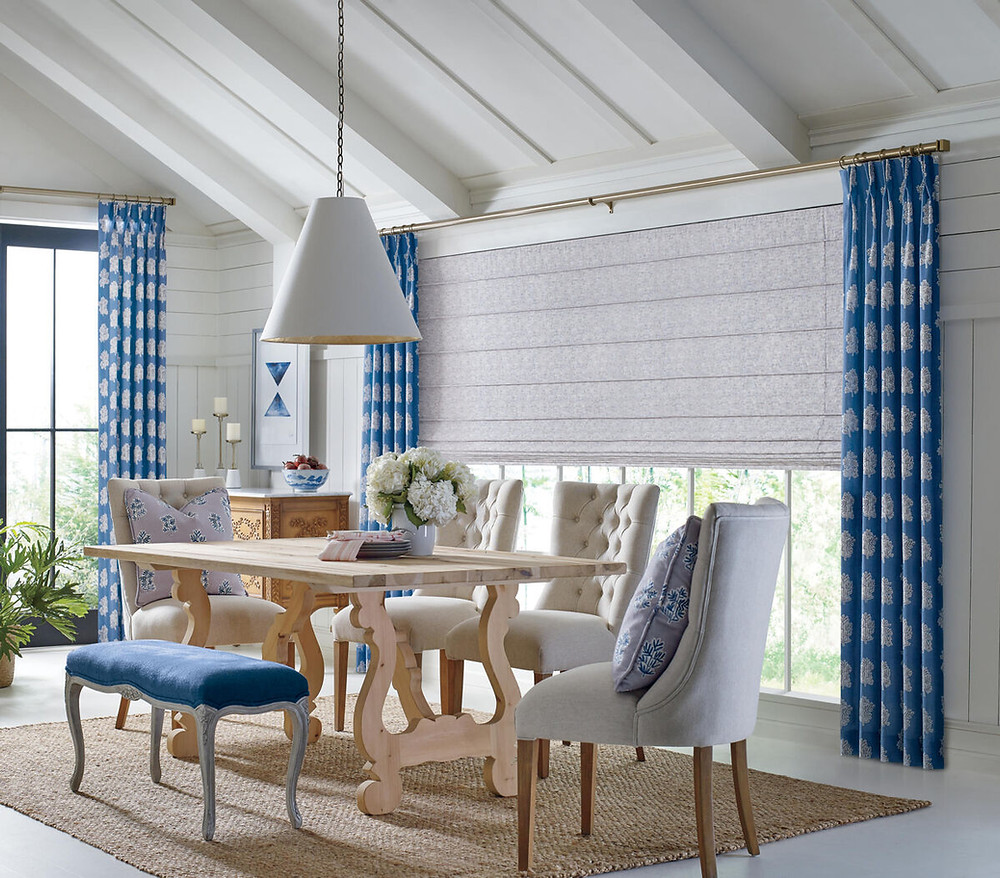 Weathered wood and a blue and white color scheme are two home decorating trends