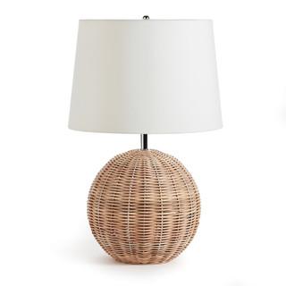 Isla Wicker Round Table Lamp