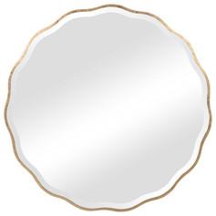 Aneta Round Large Gold Mirror