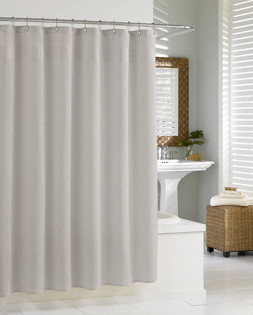Marvelous Spa Like Shower Curtains #8: Waffle-weave Shower Curtain Adds Sophistication And Creates A Inviting, Spa- Like Retreat In Any Bathroom.