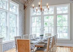 Elegant modern beach house 10 seat dining table
