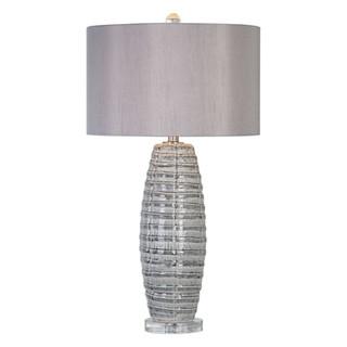 Brescia Grey Ceramic Ribbon Table Lamp