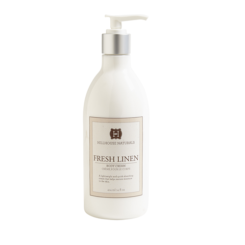 Fresh linen perfumed body cream