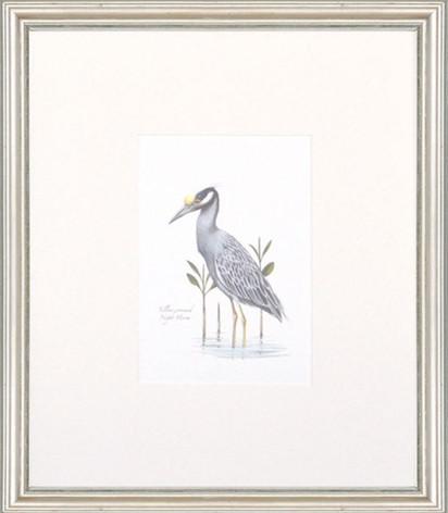 Petite Bird Print - Night Heron