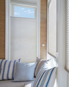 Hunter Douglas Duette honeycomb cellular shades bottom and top down opening