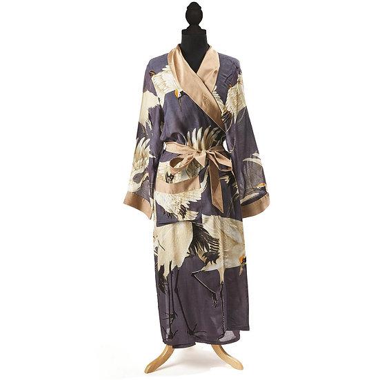 Lightweight Tie-front Kimono Robe