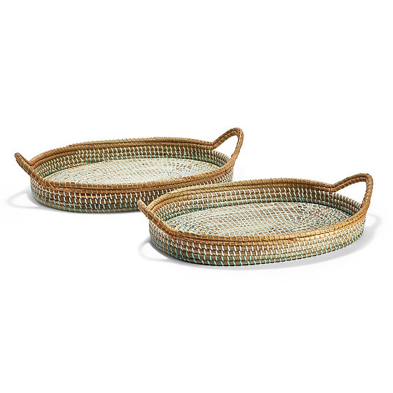 Phuket woven tray with handles