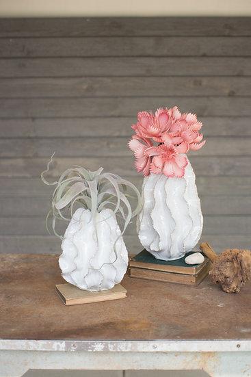 Ceramic Ruffled Vase