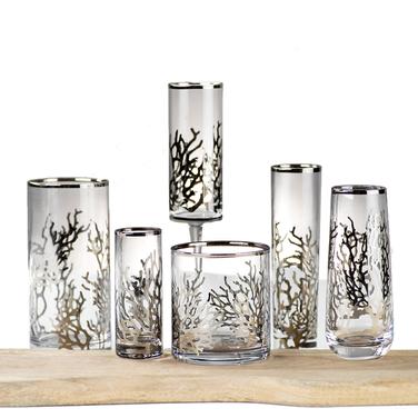 Silver Coral Glassware