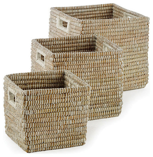 Rivergrass Square Baskets with Handles
