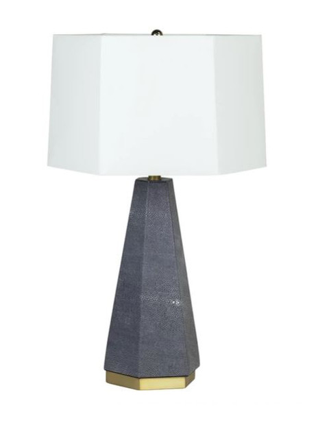 Blue Shagreen Ceramic Table Lamp