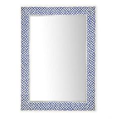 Rajasthan Blue & White Mirror