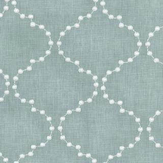 Pearl Drop Embroidery Lattice - Mist