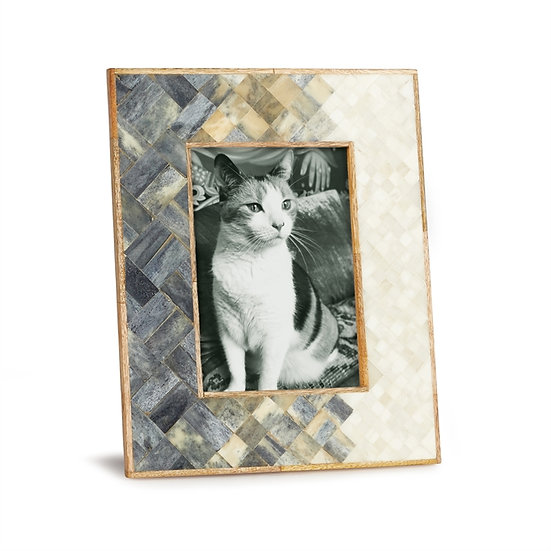 Estella mosaic tile picture frame for 5x7 photo