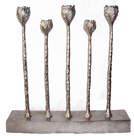 Hammered Stainless Steel Candle Holder