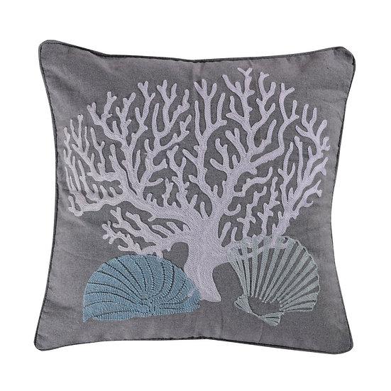 Siesta Key embroidered throw pillow