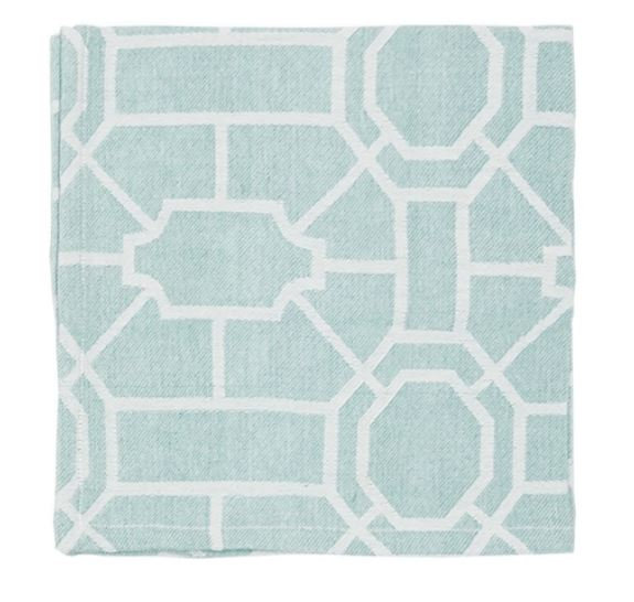Trellis Sea Glass Napkin (Set of 2)