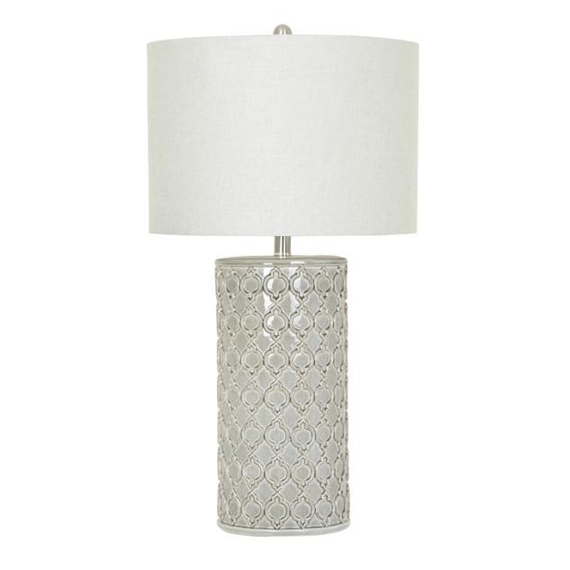 Kincaid Quatrefoil Ceramic Table Lamp