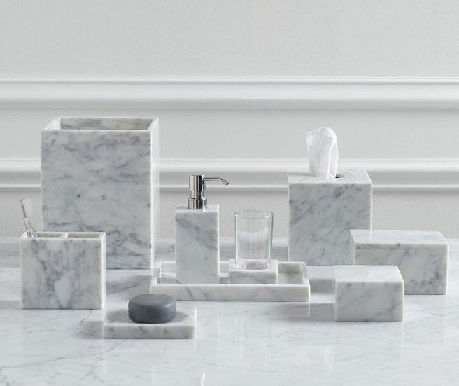 Aubergine Home Collection bathroom decor store Marmol marble bathroom set by Kassatex