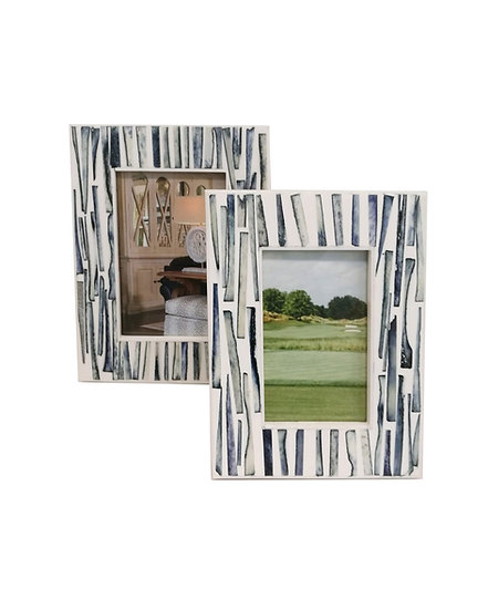 Rialto blue and white picture frame available in two sizes