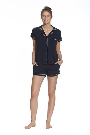 Pima Cotton Pajama Shirt and boxers navy