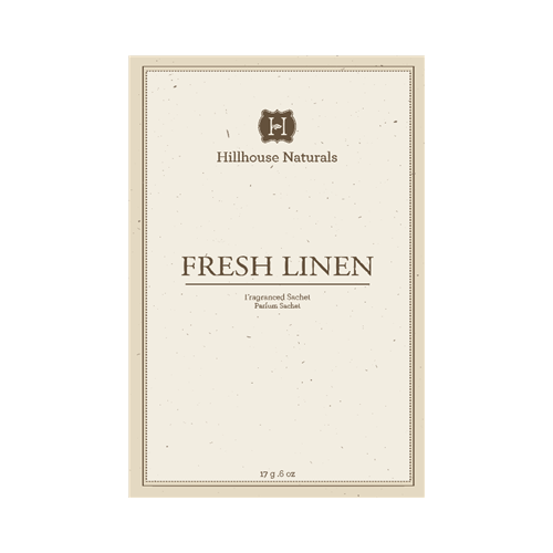 Fresh Linen scented fragrance sachet for drawers and closets
